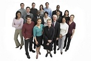 Smiling Group of Professionals --- Image by © Royalty-Free/Corbis